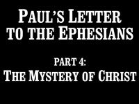 Pastor John S. Torell - sermon on THE MYSTERY OF CHRIST - Resurrection Life of Jesus Church: Carmichael, CA - Sacramento County