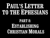 Pastor John S. Torell - sermon on ESTABLISHING CHRISTIAN MORALS - Resurrection Life of Jesus Church: Carmichael, CA - Sacramento County