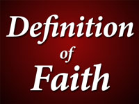 Pastor John S. Torell - sermon on THE DEFINITION OF FAITH - Resurrection Life of Jesus Church: Carmichael, CA - Sacramento County