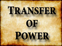 Pastor John S. Torell - sermon on TRANSFER OF POWER - Resurrection Life of Jesus Church