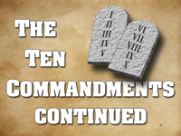 Pastor John S. Torell - sermon on THE TEN COMMANDMENTS CONTINUED - Resurrection Life of Jesus Church