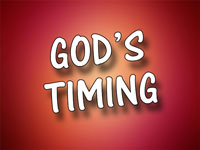 Pastor Charles M. Thorell - sermon on GOD'S TIMING - Resurrection Life of Jesus Church